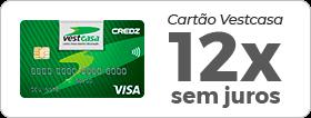 Cartão Vestcasa 12x sem juros