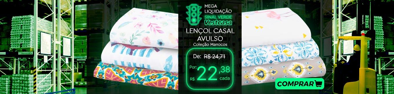 MEGA LIQUIDAÇÃO SINAL VERDE Vestcasa LENÇOL CASAL AVULSO Coleção Marrocos COMPRAR