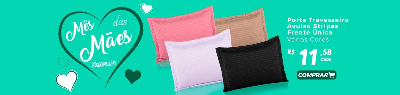 Mês das Mães vestcasa - Porta Travesseiro Avulso Stripes Frente Única Várias Cores R$11,58 cada